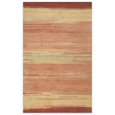 Beige/Red Area Rugs
