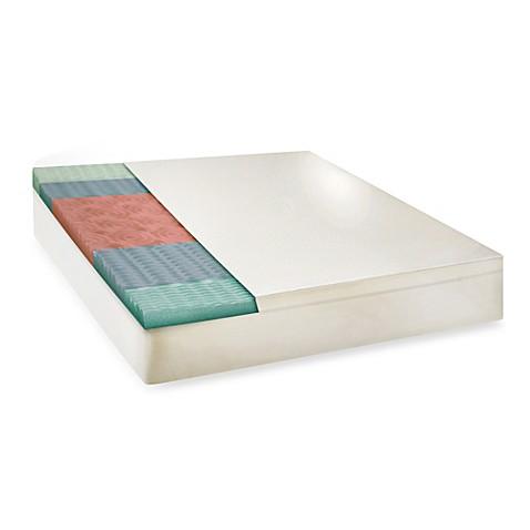 Buy Therapedic Queen 5 Zone Memory Foam Mattress Topper