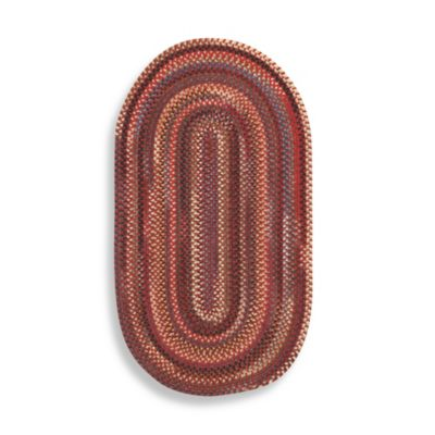 Capel Rugs Eaton Braided Oval 5-Foot x 8-Foot Rug in Red