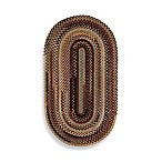 Capel Rugs Eaton Braided Oval Rug in Wineberry