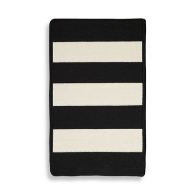 Capel Rugs Willoughby 2-Foot 3-Inch x 4-Foot Rug in Black/White