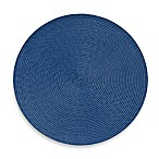 Indoor/Outdoor 15-Inch Round Placemat in Sapphire
