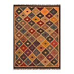 Jaipur Bedouin Petra Tribal Pattern Rug in Slate Gray