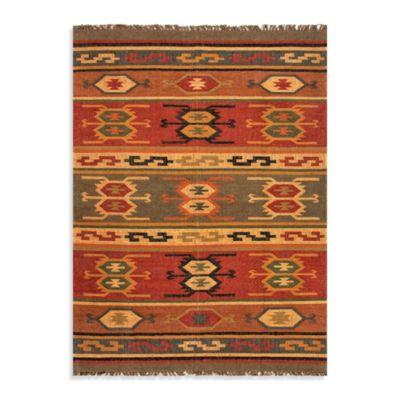 Jaipur Bedouin Thebes Deep Rust Tribal 2-Foot x 3-Foot Rug