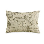 Fairfield Printed French Script Toss Pillow