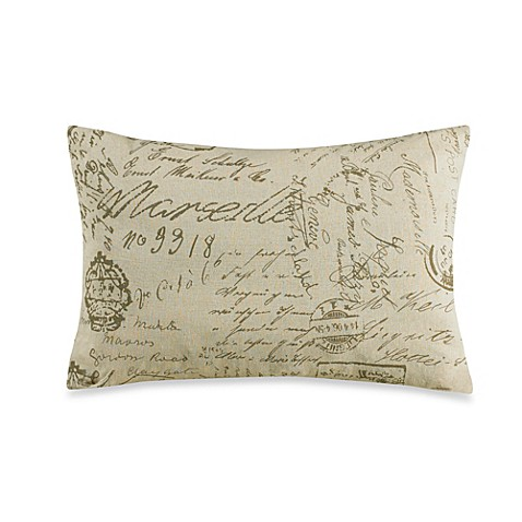Throw Pillows With French Script : HiEnd Accents Fairfield Printed French Script Throw Pillow - www.BedBathandBeyond.com