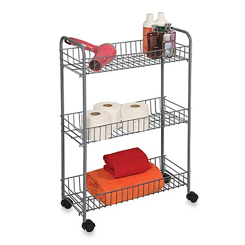 Buy 3 Tier Rolling Cart In White From Bed Bath Amp Beyond
