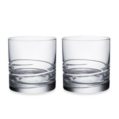 Orrefors Swerve Double Old Fashions (Set of 2)
