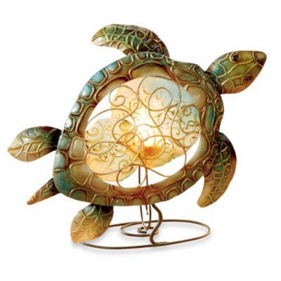 Sea Turtle Capiz Shell Tealight Holder