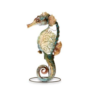 Seahorse Capiz Shell Tealight Holder