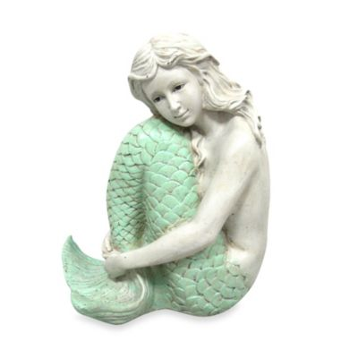8-Inch Mermaid Figurine in Seagreen