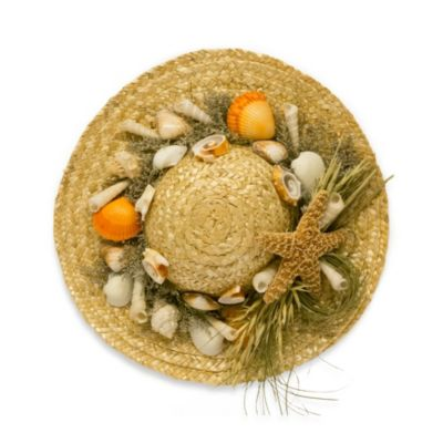 Decorative Straw Hat with Scented Shells