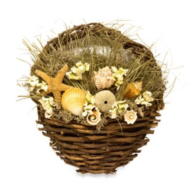 Decorative Twig Basket with Scented Shells