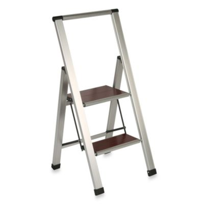 2-Step Aluminum and Wood Ladder