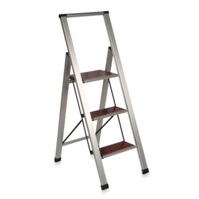 3-Step Aluminum and Wood Ladder