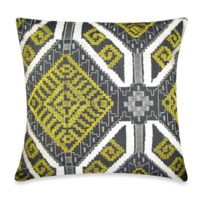 Ethnic Applique Square Toss Pillow