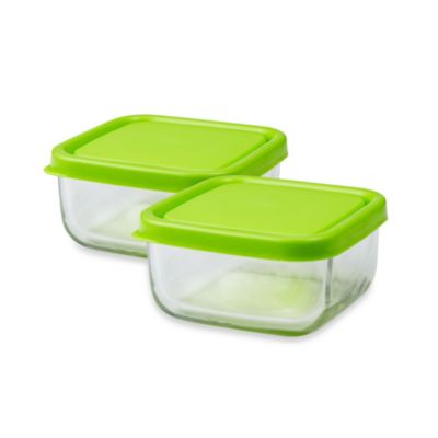 Innobaby The Glass Tot Food Cubes in Green (Set of 2)