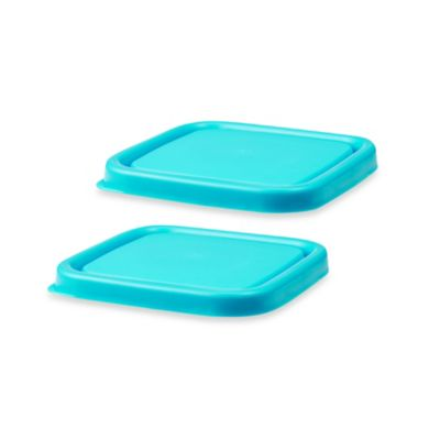 Innobaby EZ Grip Press-to-Seal Replacement Lids in Blue (Set of 2)