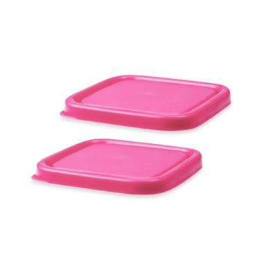 Innobaby EZ Grip Press-to-Seal Replacement Lids in Pink (Set of 2)