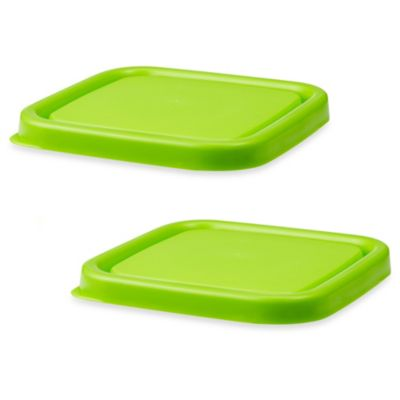 Innobaby EZ Grip Press-to-Seal Replacement Lids in Green (Set of 2)