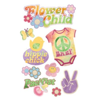 Paper House® Flower Child 3D Stickers