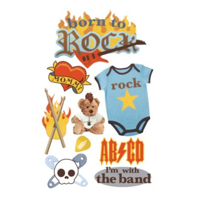 Paper House® Born to Rock 3D Stickers