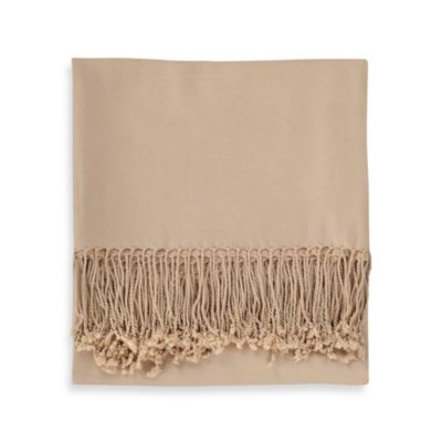 Solid Bamboo Viscose Throw Blanket in Cream