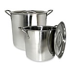 Cook Pro® 2-Piece Stockpot Set in Stainless Steel