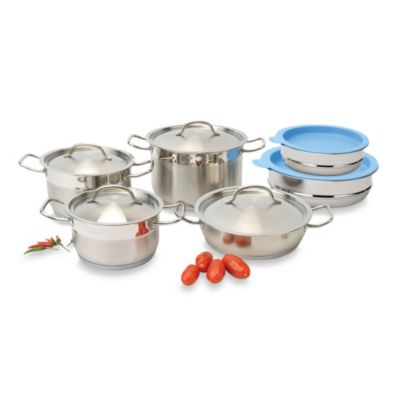 BergHOFF® Hotel Line 12-Piece Cookware Set with Covered Mixing Bowls