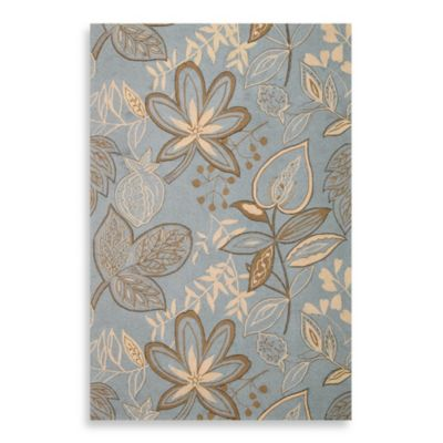 Nourison Fantasy 2-Foot 6-Inch x 4-Foot Area Rug in Light Blue