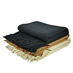 Pur Cashmere Basket Weave Throw Blanket