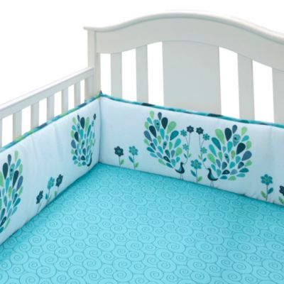 Bananafish® Peacock Blue Fitted Crib Sheet