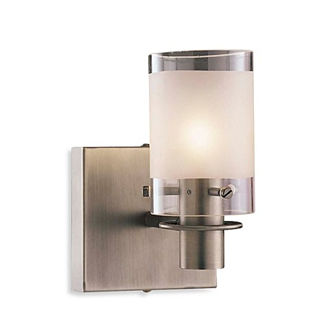 George Kovacs® Etched Glass Single Wall Sconce in Clear/Sand
