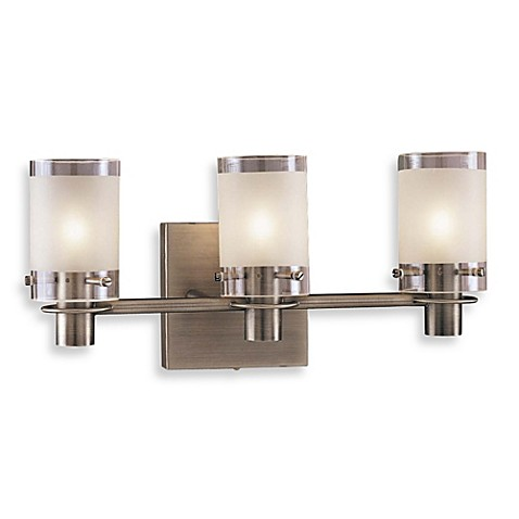 George Kovacs® Etched Glass Triple Wall Sconce in Clear/Sand