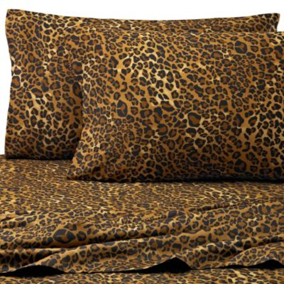 Safari 300-Thread-Count Leopard King Pillowcases in Brown (Set of 2)