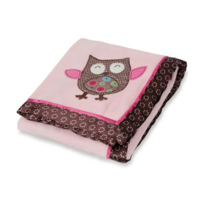 Bananafish® Calico Owls Plush Baby Blanket