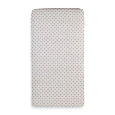 Pink Polka Dot Crib Sheet