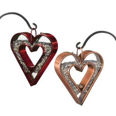 Good Directions Heart Fly-Thru™ Bird Feeder in Venetian Bronze