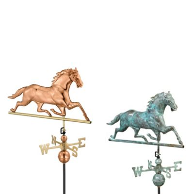 Good Directions Horse Weathervane in Blue Verde Finish