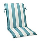 Sling Cushion with Ties in Cabana Stripe/Blue