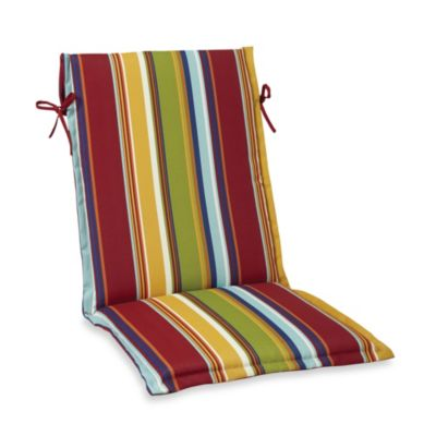 Sling Cushion with Ties in Bright Stripe