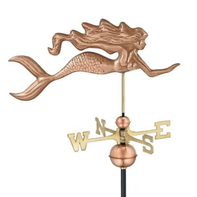 Good Directions Mermaid Weathervane in Polished Copper Finish