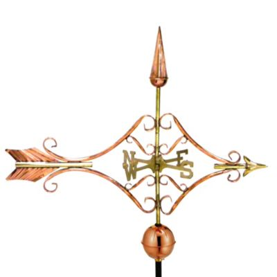 Good Directions Victorian Arrow Weathervane in Polished Copper Finish