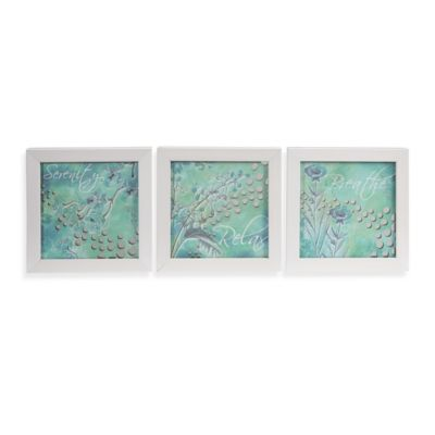 Mirrored Serenity 3-Piece Wall Art