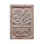 Brilla Floral I Plaque in Clay