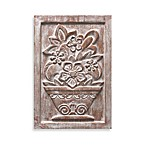 Brilla Floral II Plaque in Clay