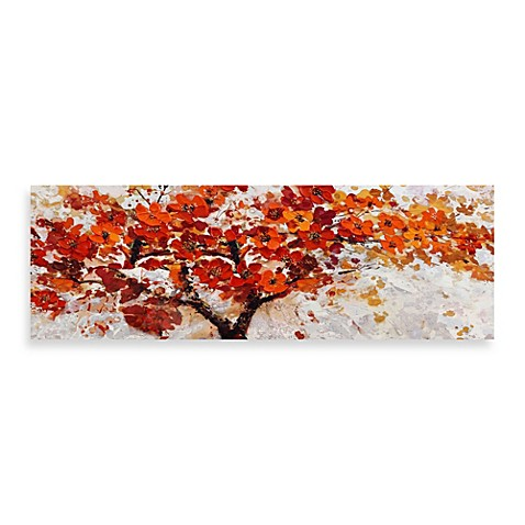 red embellished canvas tree 60 inch x 20 inch wall art bed bath beyond. Black Bedroom Furniture Sets. Home Design Ideas