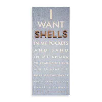 Shells in My Pocket Raised Icon Eye Chart Wall Plaque