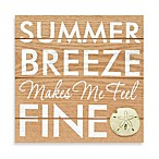 Summer Breezes Makes Me Feel Fine Rustic Icon Plaque in Peach