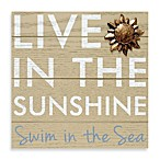 Live in Sunshine Rustic Icon Plaque in Tan